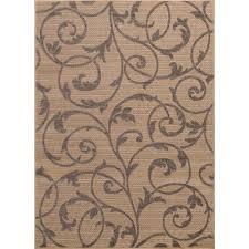 scroll design outdoor rugs unique hampton bay scroll beige gray 8 ft x 10 ft indoor