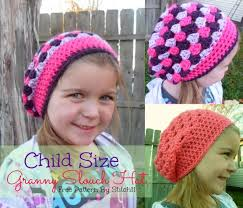 Free Crochet Hat Patterns For Toddlers Beauteous Child Size Granny Slouch Hat Stitch48