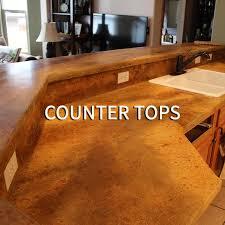 brand new countertops concrete finishing