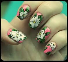 aloha print nail art