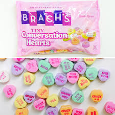 valentine s day candy hearts. Unique Candy Brachu0027s Tiny Conversation Hearts With Valentine S Day Candy N