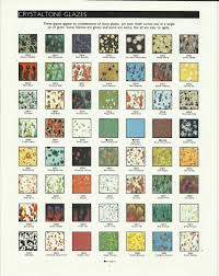 Glaze Color Chart Old Duncan Crystalone Glaze Color Chart In 2019 Pottery