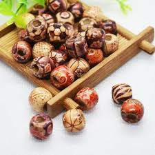 details about accessories wooden beads beaded hair ring necklaces decorations 10mm 2mm hole