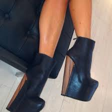shoes high heels ankle boots leather ankle boots black leather boots wood heels black and brown
