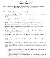scholarship essay example winning a  scholarship essays example 7 word pdf documents