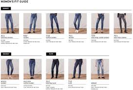 Levis Size Chart Women S Jeans The Levis Spring 2019 Fit Guide Is Here Levi Strauss