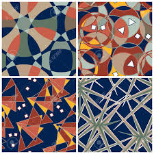 Intricate Patterns Stunning Abstract Matching Intricate Patterns Set Royalty Free Cliparts