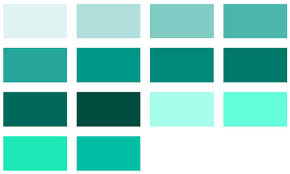 Teal Material Design Color Chart Color Name Identifier