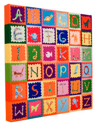 alphabet canvas for children s rooms on wall art childrens bedrooms uk with our nursery wall art is now available printed on canvas with free