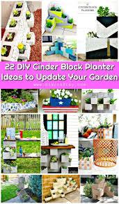 22 diy cinder block planter ideas to update your garden concrete block raised garden bed