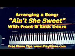 With proven experience in music production and composition services, our acclaimed musicians can arrange any kind of song and instrumentation in any musical style thereby creating an appealing and professional master track that will maintain listener's attention and give your song the ultimate finishing touch. Ain T She Sweet One Way To Arrange It On The Piano Piano Piano Lessons Piano Scales