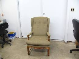 office chair reupholstery. Antique Wingback Chair Office Reupholstery 1