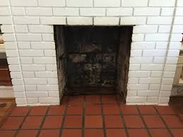cleaned fireplace firebox for fireplace makeover thediybungalow com