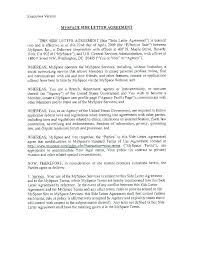 contract letter side letter side letter agreement execution version side letter to