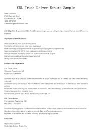 Dump Truck Driver Job Description Resume