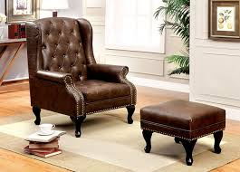 Thatcher Leather Wingback Chair Black| Pottery Barn