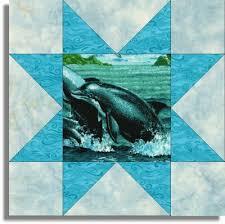 15 best Dolphin Quilts images on Pinterest | Grand kids, Sewing ... & DOLPHIN SPLASH STAR V2 Pre Cut Quilt Blocks Kit Adamdwight.com