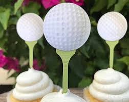 Golf Ball Decorations Golf Ball Cupcake Toppers 60CT Golf Party Decorations Sports 27
