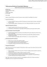Sample Telecommunications Consultant Resume Telecom Sales Engineer Sample Resume Spacedesignagency Co