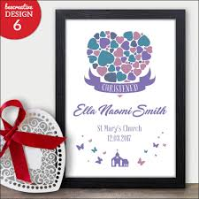 details about baby christening baptism naming day gift personalised daughter print