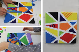 You will love these clever Tape Painting Ideas that are easy to make and  look great! We have a video to show the whole family how
