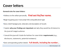 cover letters for manuscripts how to write a manuscript 11302010