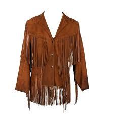 suede fringe jacket vintage brown