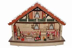 Weihnachtshaus Mit Spieluhr Und Led Beleuchtung Für Batteriebetrieb Fensterdeko 45 Cm Hgd Clh25 6649