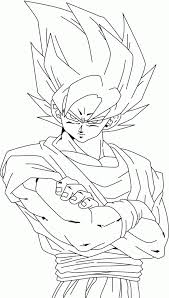 Small Picture Dragon Ball Z Goku Super Saiyan 2 Coloring Pages Coloring Home