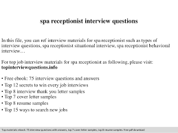 spa receptionist interview questions In this file, you can ref interview  materials for spa receptionist ...