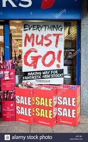 Sale Signs In A Shop Window Stock Photos Sale Signs In A Shop