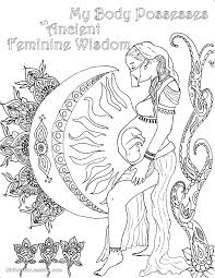 Small Picture Birth Affirmation Coloring Page Free Printable feminine wisdom