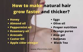natural hair grow faster and thicker