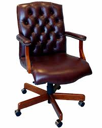 office furniture leather executive chair brown high back