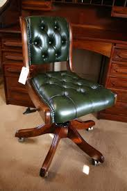 awesome green office chair. Furniture Green Desk Chair Awesome Typist Swivel Bottle Leather Buttoned For Trends And Office