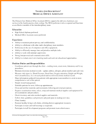 Medical Office Assistant Job Description For Resume 100 administrative assistant duties resume time table chart 42
