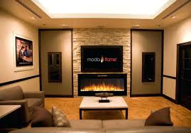 full image for tv stand with built in electric fireplace uk flame pebbles stone wall mounted
