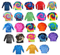 Tie Dye Color Chart Tie Dye T Shirts Kids Youth Xs S M L 100 Cotton Multi Color