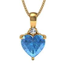 facetzinspire 100 real diamond blue color stone pendant silver pendants home18
