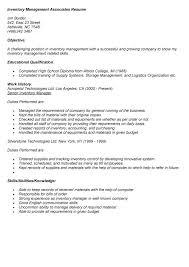 resume sample inventory control  seangarrette coresume