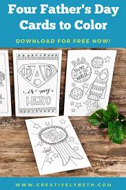 I usually try to do something special at home with the kids for their dad. Four Free Father S Day Cards To Print And Color Creatively Beth