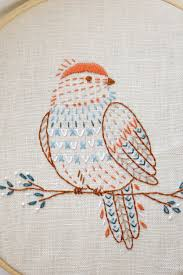 Hand Embroidery Patterns Adorable Embroidery Pattern Bird Embroidery Pattern PDF Digital Download