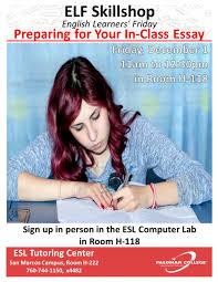 deadline apply last minute csu app workshops palomar college elf skillshop preparing for your in class essay