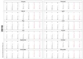 yearly printable calendar 2018 printable calendar 2018 template printable 2017 calendar