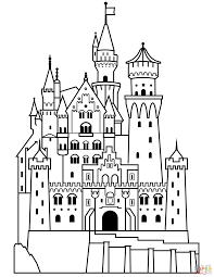 Small Picture Neuschwanstein Castle coloring page Free Printable Coloring Pages