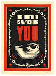 BIG BROTHER IS WATCHING YOU - Obey Giant