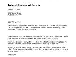 Sample Of Application Letter For Position Letter Of Job Interest