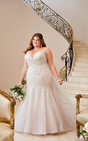Plus Size Wedding Gown Designers Plus Size Wedding Dress With Glamorous Lace Stella York