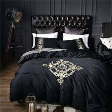 luxury duvet cotton black luxury bedding sets bedclothes king queen size duvet cover bed sheet linens