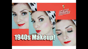 1940s clic hollywood vine makeup tutorial by cherry dollface